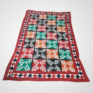Multi Color Single Bed / Charpai Chadder Handmade Sindhi Tukri Ralli / Rally / Appliqued Bedset RBS-44