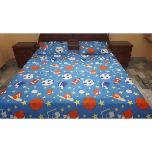Cotton Printed Bed Sheet Sets [All Sizes] Design CC-412