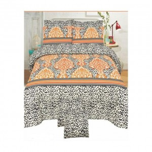 Cotton Printed Bed Sheet Sets [All Sizes] Design CC-414