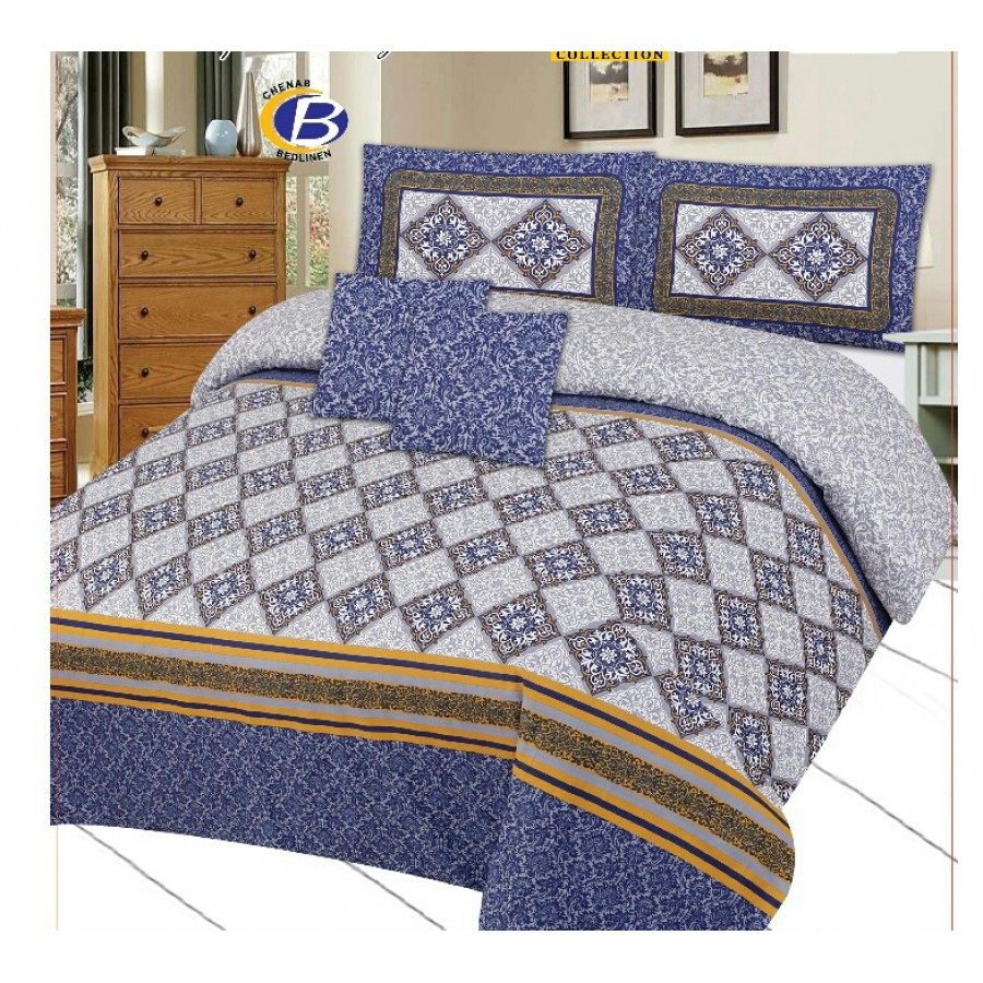 Cotton Printed Bed Sheet Sets [All Sizes] Design CC 428