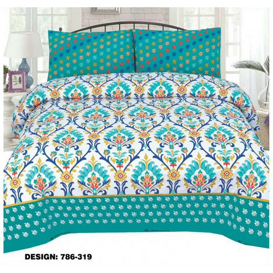 Cotton Printed Bed Sheet Sets [All Sizes] Design CC 429