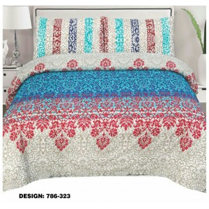 Cotton Printed Bed Sheet Sets [All Sizes] Design CC-430