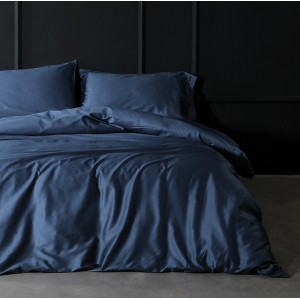 Pure Egyptian Cotton Sateen Navy Blue Solid Color BedSets [All Sizes] CSB-122