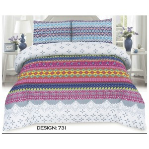 Cotton Printed Bed Sheet Sets [All Sizes] Design CC-639