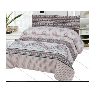 Cotton Printed Bed Sheet Sets [All Sizes] Design CC-646