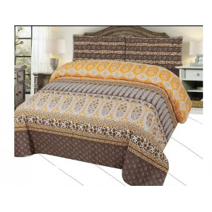 Cotton Printed Bed Sheet Sets [All Sizes] Design CC-649