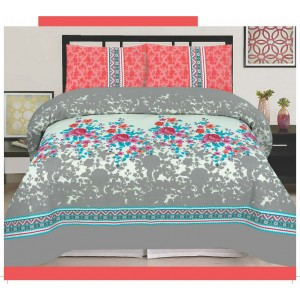 Cotton Printed Bed Sheet Sets [All Sizes] Design CC-654