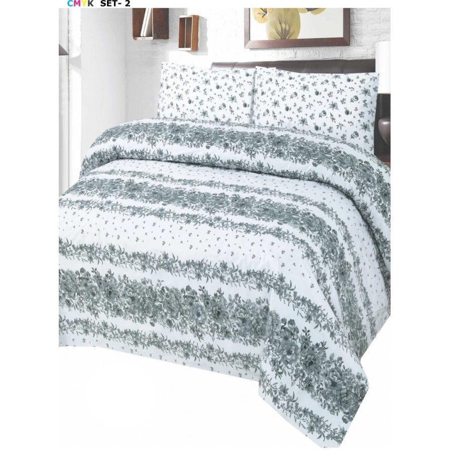 Cotton Printed Bed Sheet Sets [All Sizes] Design CC 668