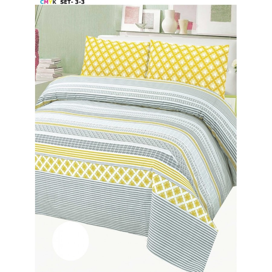 Cotton Printed Bed Sheet Sets [All Sizes] Design CC-670