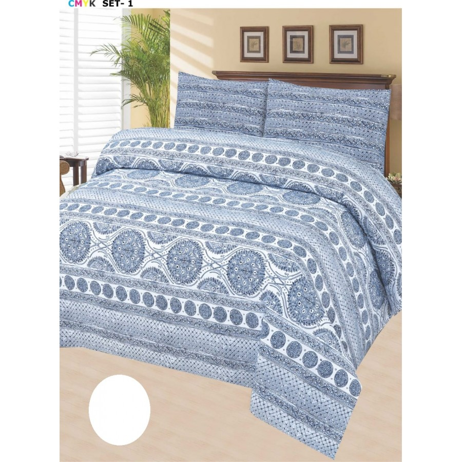 Cotton Printed Bed Sheet Sets [All Sizes] Design CC-674
