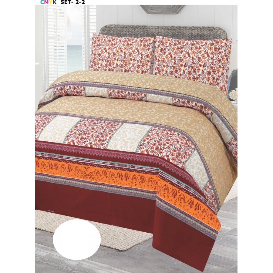 Cotton Printed Bed Sheet Sets [All Sizes] Design CC-675