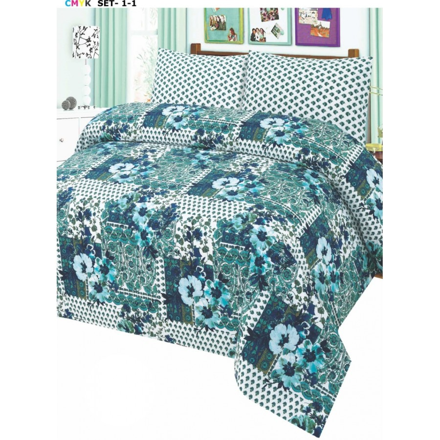Cotton Printed Bed Sheet Sets [All Sizes] Design CC-676