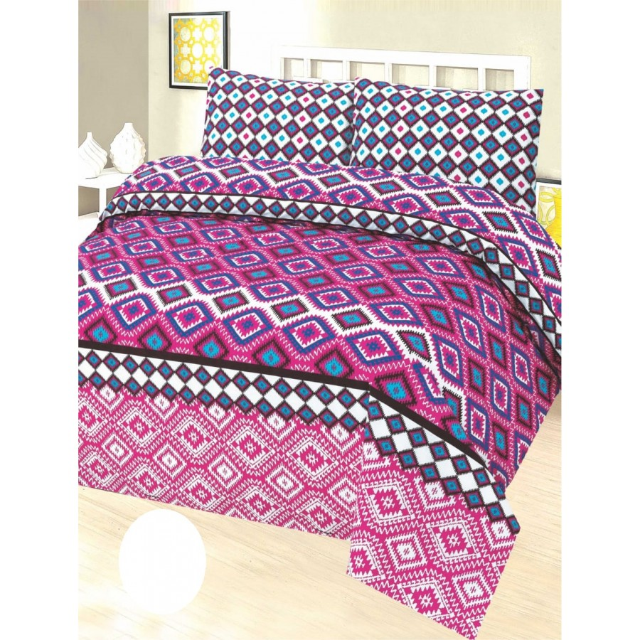 Cotton Printed Bed Sheet Sets [All Sizes] Design CC-677