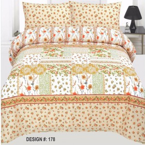 Cotton Printed Bed Sheet Sets [All Sizes] Design CC-459