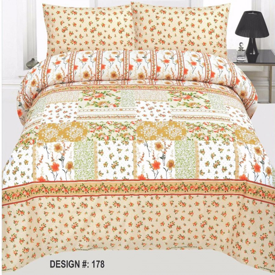 Cotton Printed Bed Sheet Sets [All Sizes] Design CC 459