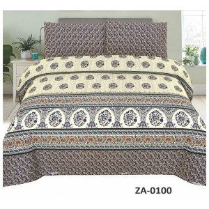 Cotton Printed Bed Sheet Sets [All Sizes] Design CC-466