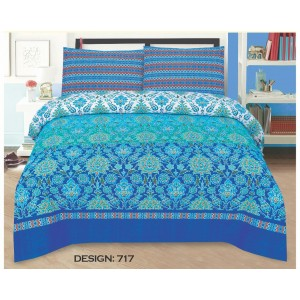 Cotton Printed Bed Sheet Sets [All Sizes] Design CC-495
