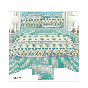 Cotton Printed Bed Sheet Sets [All Sizes] Design CC-518