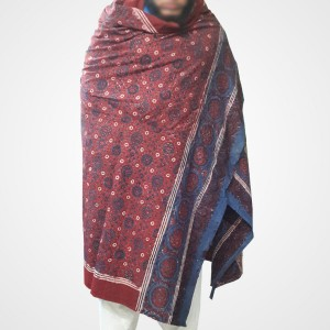 Pure Cotton Herbal Dyed Block Printed Sindhi Ajrak (Original) SA-29