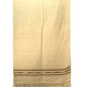 Pure Woolen Beige Color Sawati Pattu / Dhussa Shawl For Men / Women SHL-115