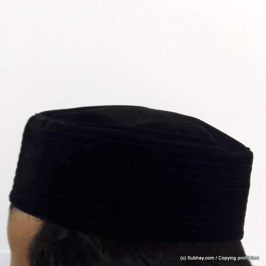 cfb986e15149e Buy Black Velvet AKA Junaid Jamshed  Cloth Contrasting  Prayer Cap   Kufi  CHM-64 - Online in Pakistan