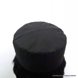 Black Cotton AKA Junaid Jamshed [Cloth Contrasting] Prayer Cap / Kufi CHM-68