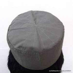 Grey Cotton Woven AKA Junaid Jamshed [Cloth Contrasting] Prayer Cap / Kufi CHM-62