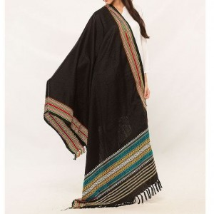 Black Color Sindhi Tharri / Embroidered Shawl SHL-101