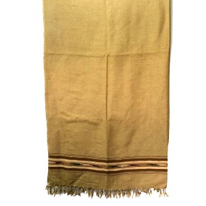 Pure Woolen Golden Color Sawati Pattu / Dhussa Shawl For Men / Women SHL-115-3