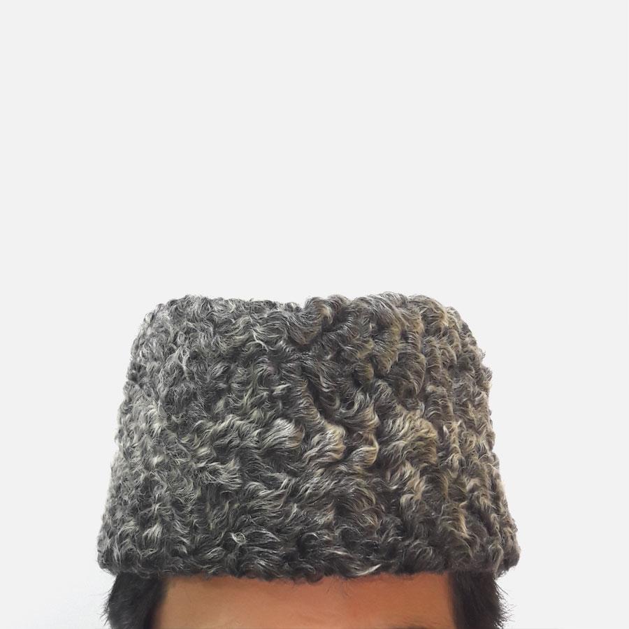 Buy Dark Gray Persian Lamb   Karakul   Camel Skin Jinnah Cap D-33 ... 5896afeff8ac