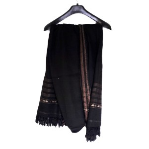 Acro Woolen Black Color Dhussa Shawl For Men / Women SHL-114
