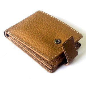 15 Pocket Bi-Fold Genuine Cow Leather Wallet For Him CLW-38 - Mustard
