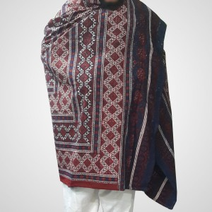 Pure Cotton Herbal Dyed Block Printed Sindhi Ajrak (Original) SA-28-8