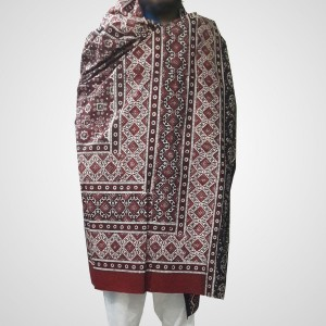 Pure Cotton Herbal Dyed Block Printed Sindhi Ajrak (Original) SA-28-7