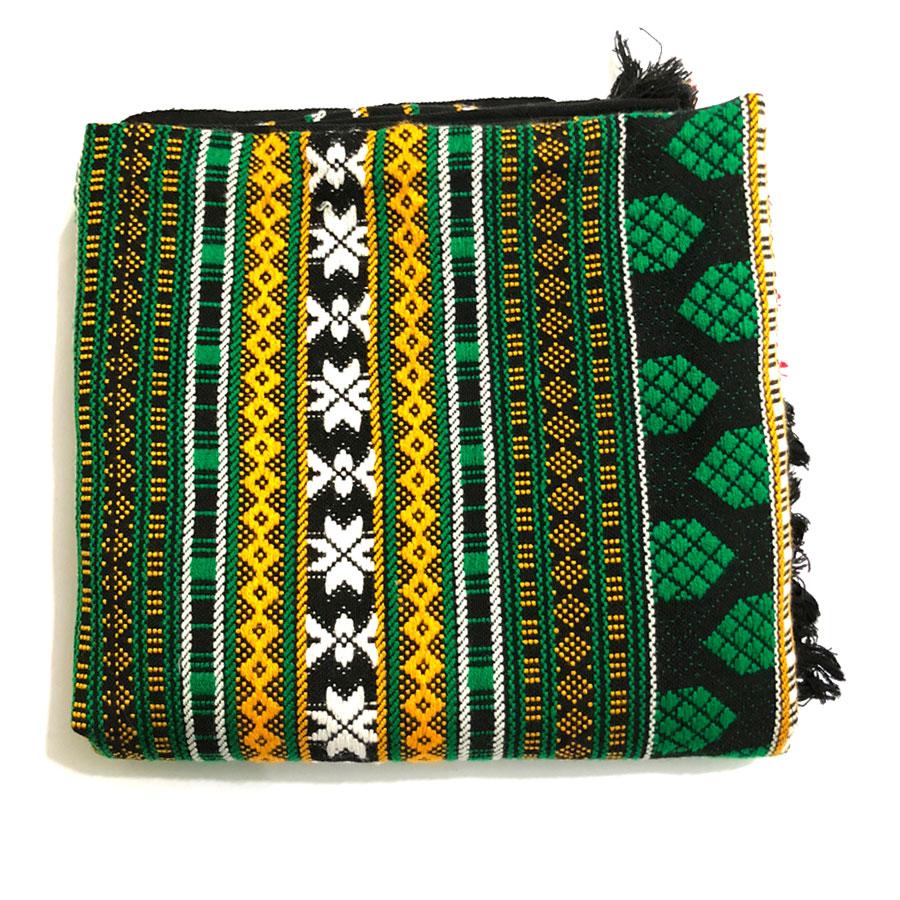 Green Handmade Sindhi Tharri / Khatri  / Wadera Shawl SHL-112-6