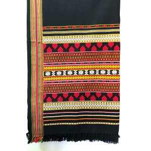 Red Handmade Sindhi Tharri / Khatri  / Wadera Shawl SHL-112-5