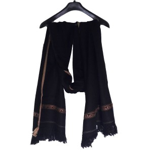 Acro Woolen Black Color Dhussa Shawl For Men / Women SHL-113