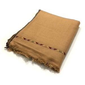 Brown Pure Woolen Handmade Peshawari & Kashmiri Fusion Dhussa Shawl SHL-123