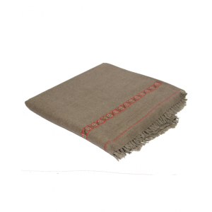 Pure Woolen Brownish Grey Color Sawati Shawl SHL-070