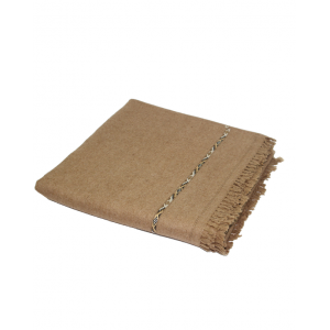 Pure Woolen Brown Kashmiri Dhussa Patti Shawl SHL-072
