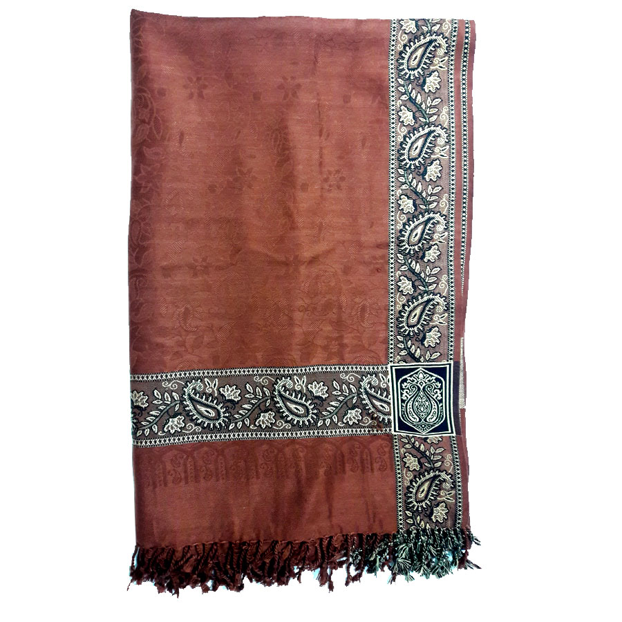 Brown Pure Acrowoolen Shawl / Dastaar For Men & Women SHL-059-2