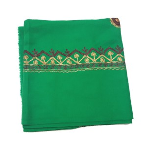 Green Rumal / Dastaar / Shemagh Embroidered 54 Inches
