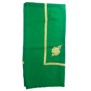 Green Yameni Handmade Rumal / Dastaar / Shemagh Embroidered 54 Inches