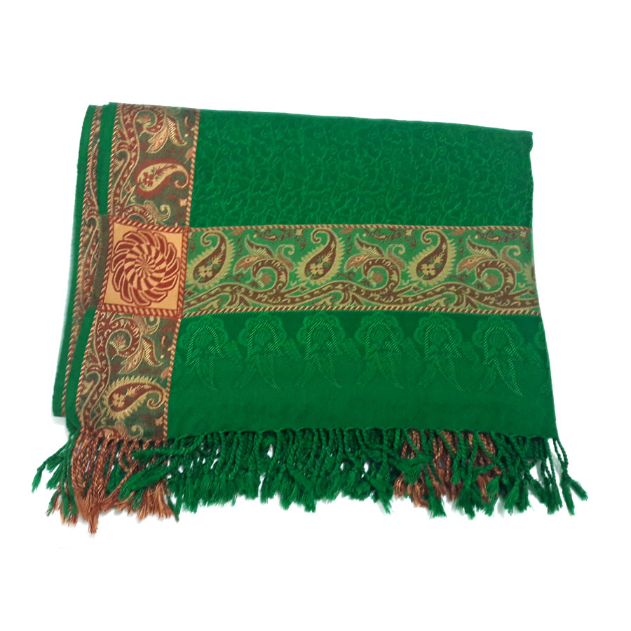 Green Pure Acrowoolen Shawl / Dastaar For Men & Women SHL-059