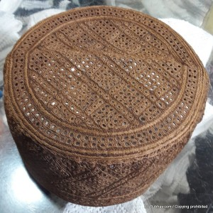 Brown Nawabshahi Cap / Topi (Hand Made) MKC-442