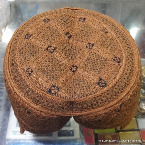 Brown Light Weight Jamali / Saeedabad Cap / Topi (Hand Made) MKC-422