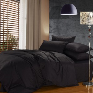 Pure Cotton Sateen 300 TC Black Bedsheet CC-231