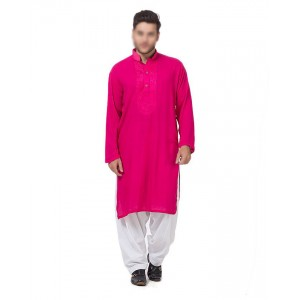 Khushal Khan Pink Linen Kurta Kurta For Men KK-09