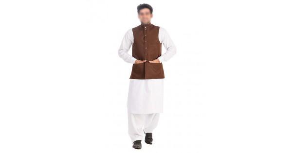Buy Kamaal Khan Brown West Coat For Men Kk 31 Online