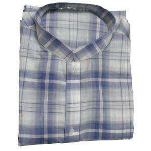 CHECKERED BLUE & WHITE KURTA KC-01